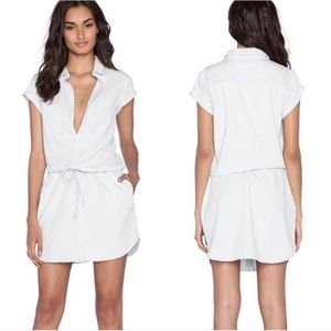Paige • White Cotton Shirt Dress